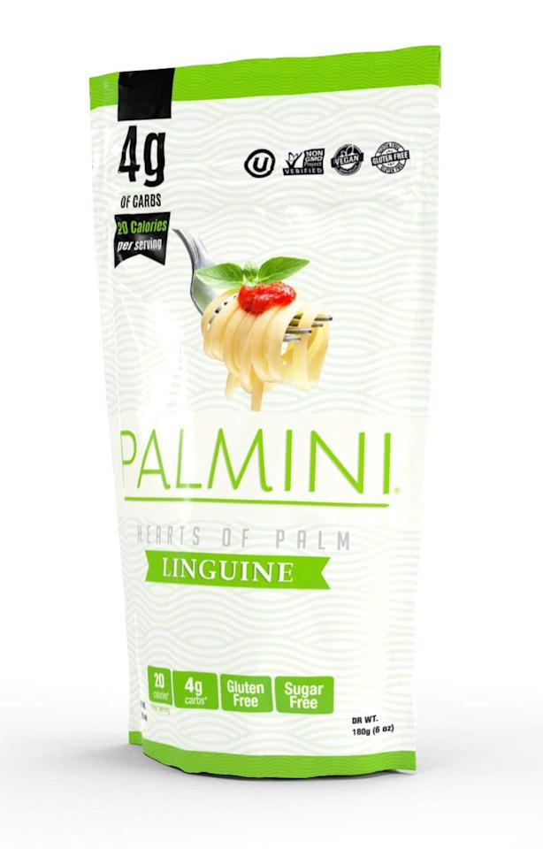 """<p>Customers are obsessed with the <strong>Shark Tank</strong> darling <a href=""""https://www.popsugar.com/buy/Palmini-Low-Carb-Pasta-415601?p_name=Palmini%20Low%20Carb%20Pasta&retailer=amazon.com&pid=415601&price=7&evar1=fit%3Aus&evar9=46521076&evar98=https%3A%2F%2Fwww.popsugar.com%2Fphoto-gallery%2F46521076%2Fimage%2F46521079%2FPalmini-Low-Carb-Pasta&list1=shopping%2Camazon%2Cpasta%2Clow-carb%2Cketo%20diet&prop13=api&pdata=1"""" rel=""""nofollow"""" data-shoppable-link=""""1"""" target=""""_blank"""" class=""""ga-track"""" data-ga-category=""""Related"""" data-ga-label=""""https://www.amazon.com/Palmini-Pasta-Carbs-Shark-Pouch/dp/B07HY13T1M/ref=sr_1_4_a_it?ie=UTF8&amp;qid=1551113713&amp;sr=8-4&amp;keywords=palmini+pasta"""" data-ga-action=""""In-Line Links"""">Palmini Low Carb Pasta</a> ($7). It's made of hearts of palm and contains no grains or gluten.</p>"""