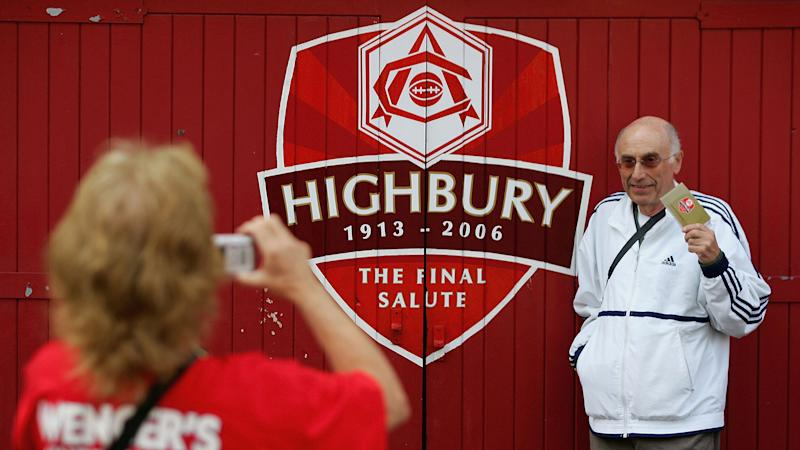 A fan poses at the last match played at Highbury before Arsenal moved to nearby Emirates Stadium (Getty Images)