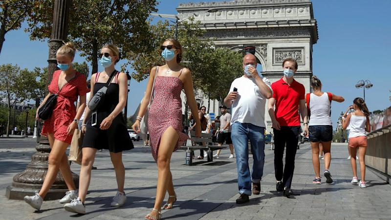 Paris expands mandatory face mask zones, infection rate hits post-lockdown high