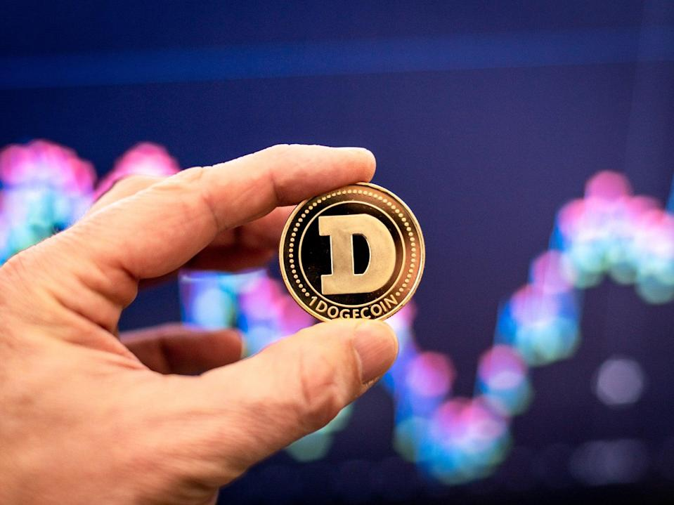 <p>Dogecoin is up in price on Thursday morning after being added to Coinbase Pro</p> (Getty Images)