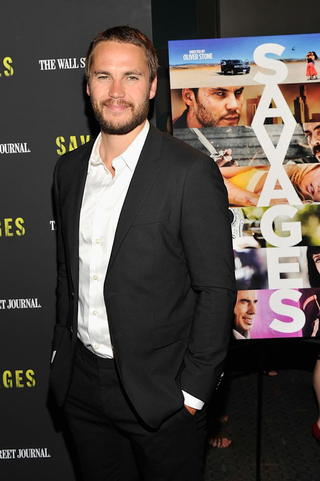 """NEW YORK, NY - JUNE 27:  Actor Taylor Kitsch attends the """"Savages"""" New York premiere at SVA Theater on June 27, 2012 in New York City.  (Photo by Stephen Lovekin/Getty Images)"""