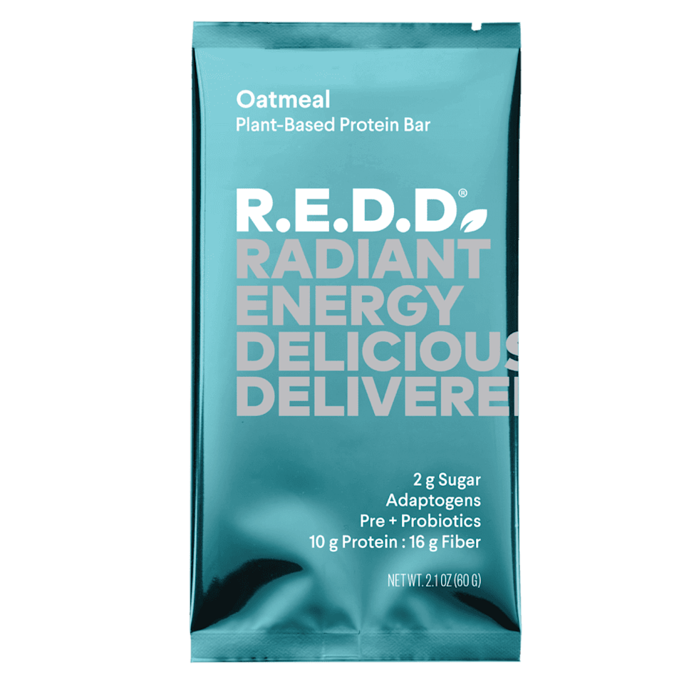 <p>These <span>R.E.D.D. Oatmeal Plant-Based Protein Bars</span> ($36 for 12) have 10 grams of plant-based protein, so they'll help you power through the mid-afternoon slump.</p>
