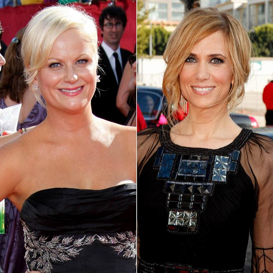 """Kristen Wiig is only one of two """"Saturday Night Live"""" cast members ever nominated for an Emmy for her work on the late-night comedy show. The other was Amy Poehler. And, in 2009, they were nominated opposite each other (they both lost to Kristin Chenoweth)."""