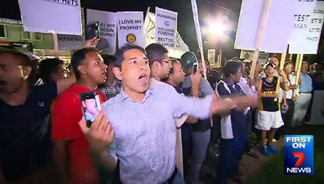 Hizb ut-Tahrir rallies are open to the public but expect all attendees to conform to their rules. Photo: 7News