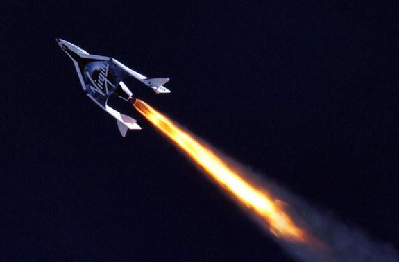 Virgin Galactic tweeted a photo of the historic test flight SpaceShipTwo on April 29, 2013.