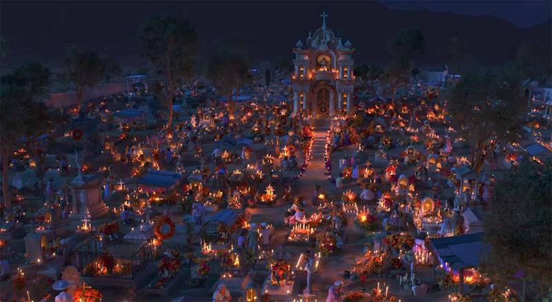 'Coco': In Mexico on Día de Muertos a cemetery becomes a place of celebration (Disney Pixar)