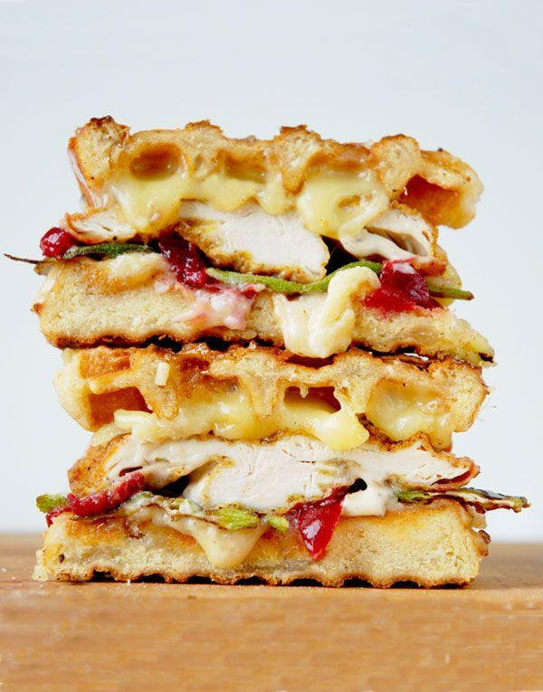 """<p>Using waffles in place of bread just makes sense.</p><p>Get the recipe from <a href=""""http://grilledcheesesocial.com/2014/08/13/the-fry-baby-fried-chicken-and-waffles-grilled-cheese/"""" rel=""""nofollow noopener"""" target=""""_blank"""" data-ylk=""""slk:Grilled Cheese Social"""" class=""""link rapid-noclick-resp"""">Grilled Cheese Social</a>.</p>"""