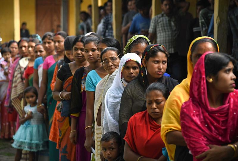 The right-wing BJP party has promised voters a $1.4-trillion infrastructure blitz, the while opposition Congress party has pledged to end abject poverty (AFP Photo/Biju BORO)