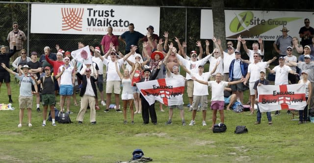 The England fans appeared to enjoy day four more than the hosts (Mark Baker/AP)