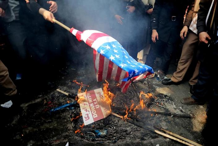 Every year on November 3-4, Iran celebrates the 444-day siege of the US embassy by Islamist students demanding the extradition of the shah (AFP Photo/Atta Kenare)