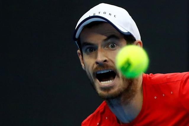 FILE PHOTO: Britain's Andy Murray in action