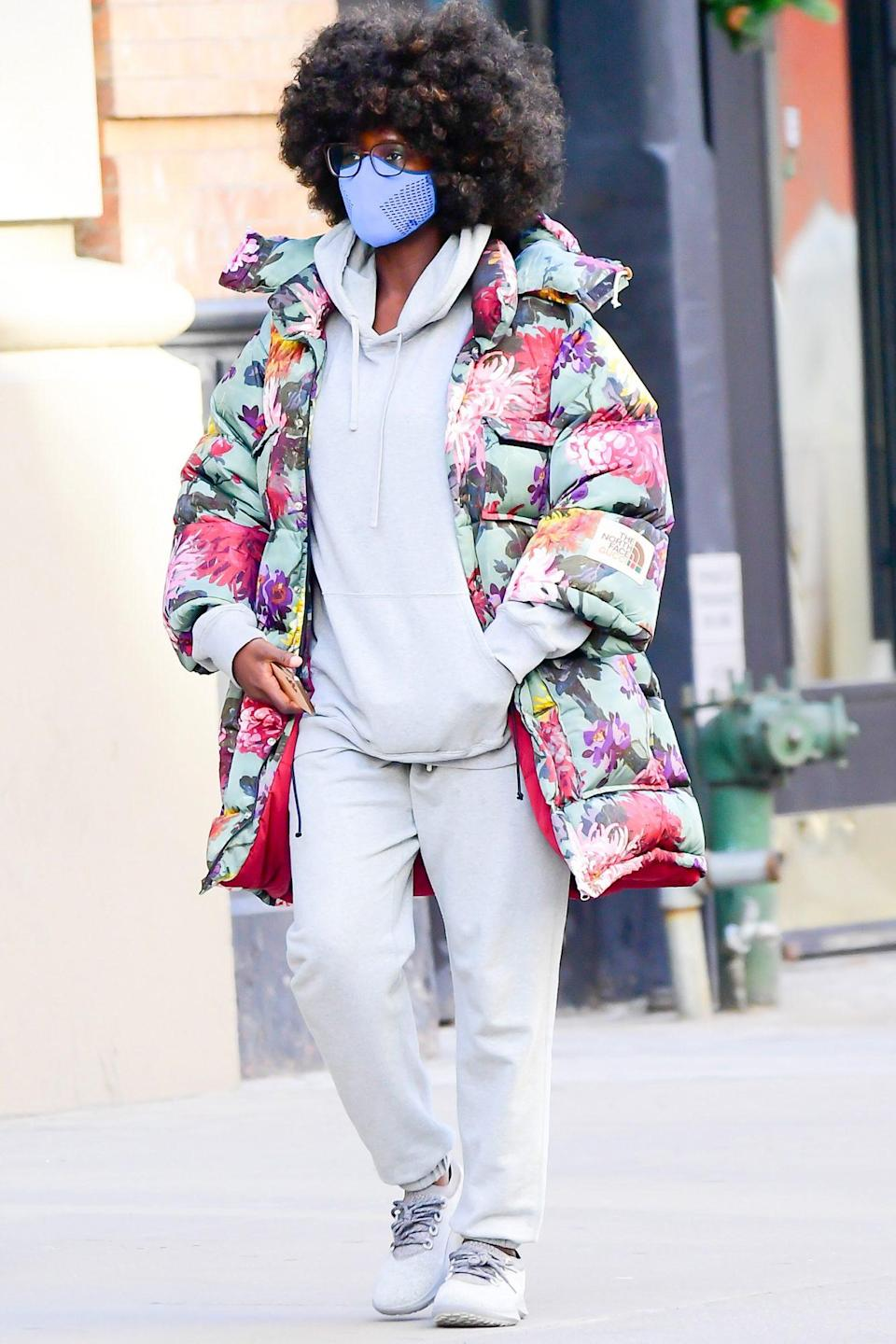 <p>Jodie Turner-Smith looks ready for warmer days on Thursday while out in New York City.</p>