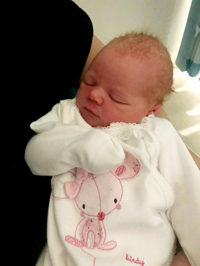 Baby Phoebe was one of the first babies of 2020, arriving at 12.08am on New Year's Day. [UHCW NHS Trust/SWNS]