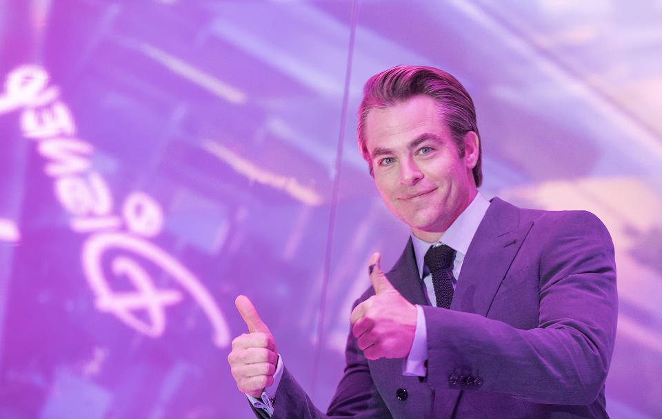 """Chris Pine at the world premiere of """"A Wrinkle in Time"""" at the El Capitan Theatre on Monday, Feb. 26, 2018 in Los Angeles. (Photo by Colin Young-Wolff/Invision for Nissan North America/AP Images)"""