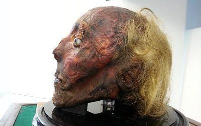 The mummified head of Jeremy Bentham - Credit: UCL