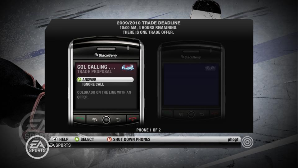 NHL 21 Franchise Mode review Blackberry NHL 10 Be a GM