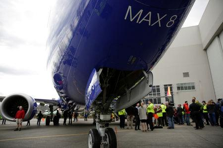 FILE PHOTO: Boeing celebrates the 10,000th 737 to come off the production line in Renton