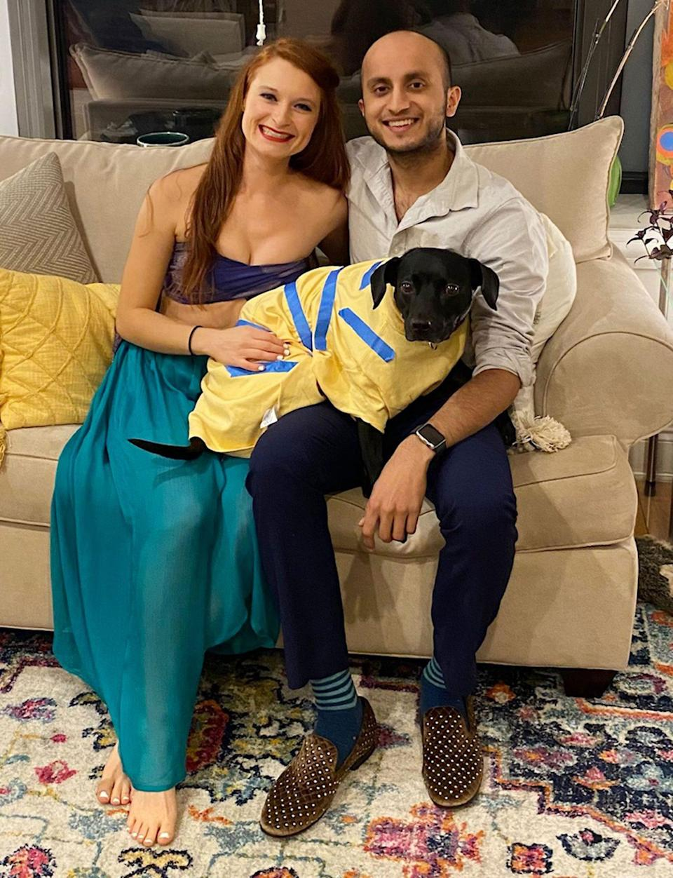 "<p><strong>Names:</strong> Alexandra Rodriguez-Beuerman & Subbu Mishra (and their dog, Ronnie) </p> <p><strong>Ages:</strong> Both 28, Ronnie is 3.5<br> <strong>Location:</strong> Chicago <br> <strong>Submitted By:</strong> Alexandra</p>   <p>Subbu and I had been dating for four-and-a-half<br>years when the pandemic hit. At the time we were living about two miles apart in two different apartments — me with three other roommates and him with one — and going back and forth every four days or so (with our dog, Ronnie). Once we got the news that we shouldn't really be traveling, even such a small distance (Ubers and public transportation seemed unsafe), we decided to spend the next few weeks (or so we thought at the time) of quarantine at my place. Believing that it wouldn't be too long, we settled into living in my bedroom with the shared living room space of everyone in the house and their plus-ones. At one point, we had eight people in a home that was really meant for four. <br> <br> Working and living in one bedroom certainly had its difficulties — Subbu is in medical school and I was finishing up graduate school while working, so we would alternate working at the desk or on the bed. Though it was crowded, I was grateful that we were able to be together. When I was feeling down he would force me to go for runs with him, knowing that movement would make me feel better, and it always did. <br> <br> In August of 2020 we had been planning on moving in together, and though that had been a long time coming, there were certainly still the usual worries of moving in with someone new — would we have similar cleaning styles (short answer: no)? Would we get sick of each other? What would we eat? But after sharing one room for the better part of six months, I was no longer concerned. We had been able to create space for each other and I knew that after that, sharing a full apartment would be a breeze. And truly, it has been. Now, when we need our ""me"" time (video games for him, reading for me), we have different rooms to be in. And anything that the future holds for us, I'm pretty sure we can take it. </p>"
