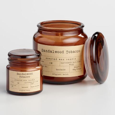 """<h2>World Market Sandalwood Tobacco Apothecary Candle</h2><br>""""These scents create the warmest, homiest fragrance that everyone should have in their house come fall. I use it on my bar area for a little accent and touch of color,"""" an avid reviewer says of this highly rated candle, filled with hand-poured sandalwood, cedar, tonka bean, and tobacco scented wax. <br><br><em>Shop <strong><a href=""""//www.worldmarket.com/product/sandalwood-and-tobacco-filled-apothecary-jar-candle.do"""" data-ylk=""""slk:World Market"""" class=""""link rapid-noclick-resp"""">World Market</a></strong></em><br><br> Sandalwood Tobacco Apothecary Filled Jar Candle, $, available at <a href=""""https://go.skimresources.com/?id=30283X879131&url=https%3A%2F%2Fwww.worldmarket.com%2Fproduct%2Fsandalwood-and-tobacco-filled-apothecary-jar-candle.do%3F"""" rel=""""nofollow noopener"""" target=""""_blank"""" data-ylk=""""slk:Cost Plus World Market"""" class=""""link rapid-noclick-resp"""">Cost Plus World Market</a>"""