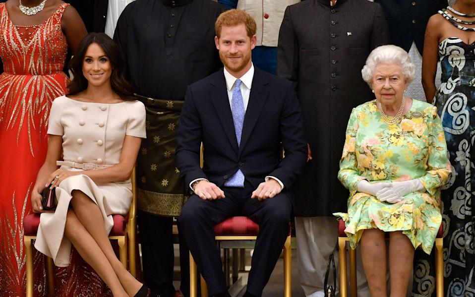 The couple have always insisted that they would not have named their child Lilibet if the Queen had not been 'supportive' of their choice - John Stillwell/Reuters