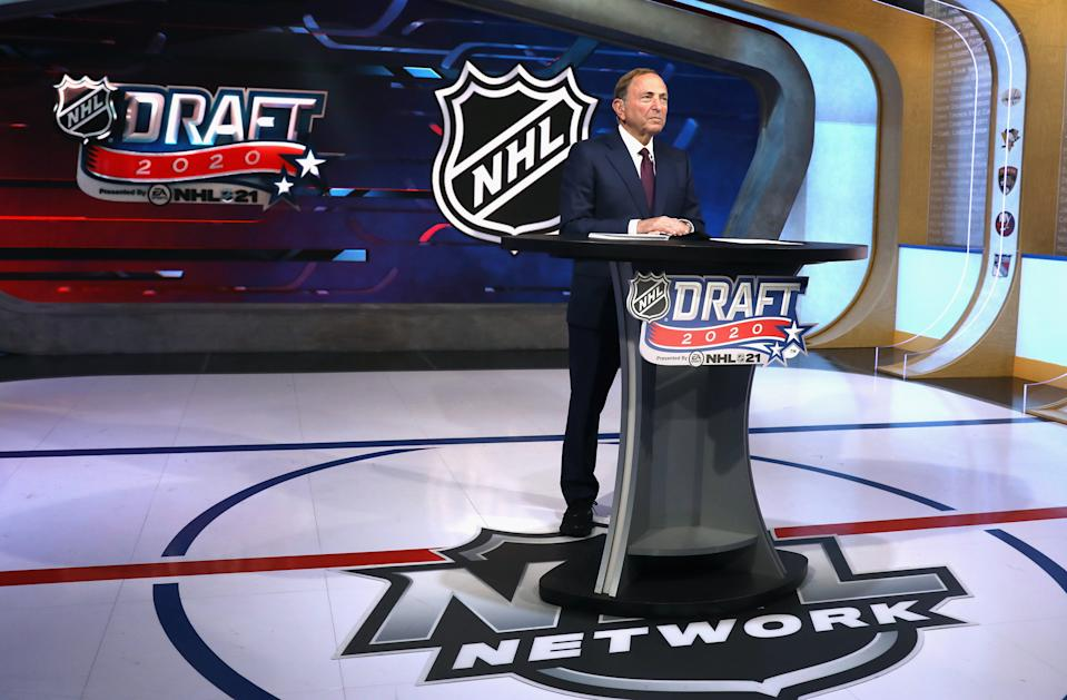 NHL commissioner Gary Bettman is still targeting a Jan. 1 start to the season. (Photo by Mike Stobe/Getty Images)