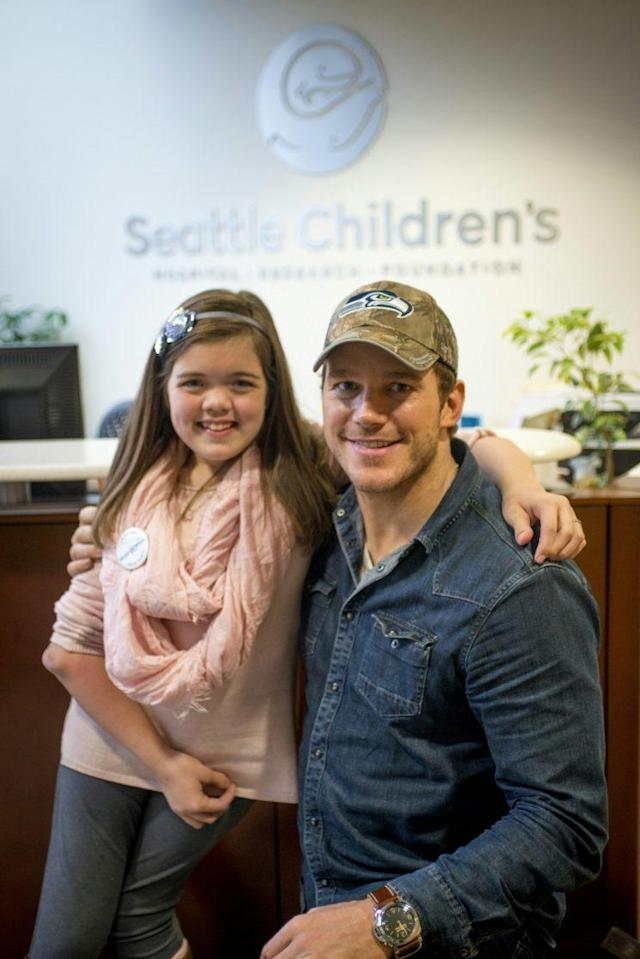 Makenna Schwab with Pratt. (Photo: Chris Pratt)