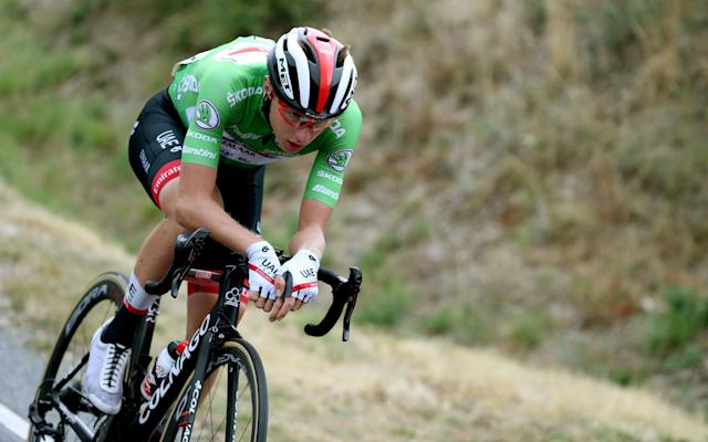 Tadej Pogacar won stage 20 at the the Vuelta a España on Saturday - EPA