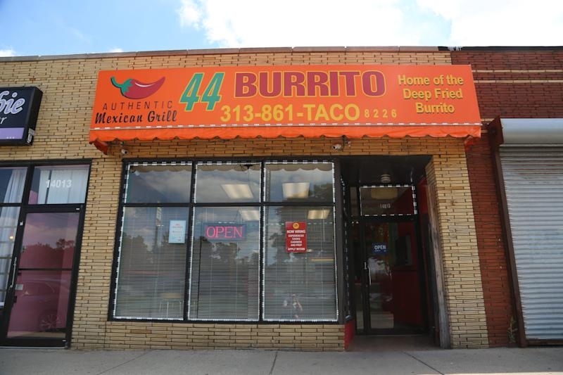 44 Burrito, named in reference to Barack Obama's historic presidency, is a Black-owned fast-casual Mexican restaurant at 14015 8 Mile in Detroit.
