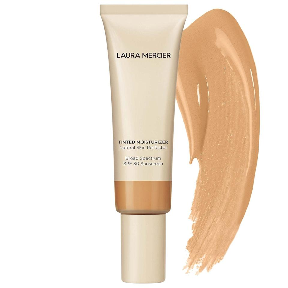 """<p><strong>Laura Mercier</strong></p><p>sephora.com</p><p><strong>$47.00</strong></p><p><a href=""""https://go.redirectingat.com?id=74968X1596630&url=https%3A%2F%2Fwww.sephora.com%2Fproduct%2Ftinted-moisturizer-broad-spectrum-P109936&sref=https%3A%2F%2Fwww.marieclaire.com%2Fbeauty%2Fmakeup%2Fg3427%2Fbest-bb-creams%2F"""" rel=""""nofollow noopener"""" target=""""_blank"""" data-ylk=""""slk:SHOP IT"""" class=""""link rapid-noclick-resp"""">SHOP IT </a></p><p>For a wide shade range, look to Laura Mercier's line of tinted moisturizers. Reach for this glow-inducing cream when you need a quick fix for a dull complexion. </p>"""