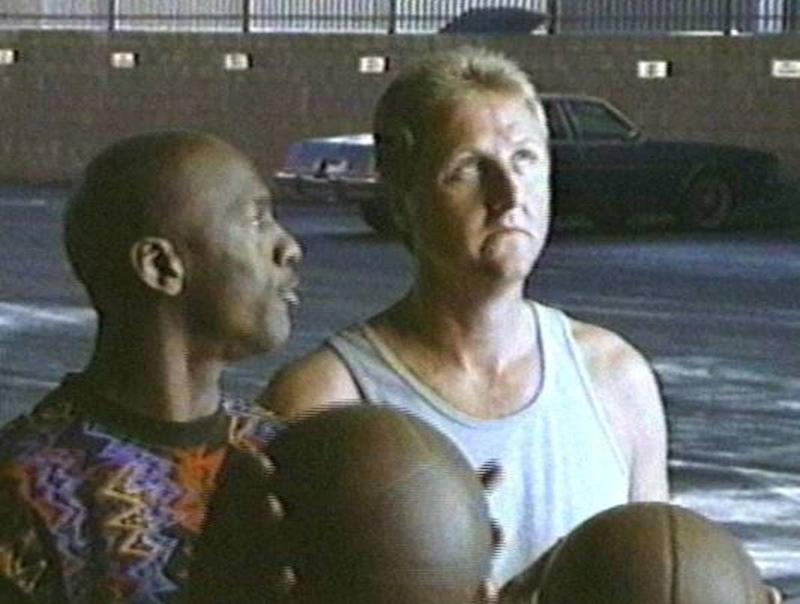 """""""What the hell is that? You can't wear that!"""" Director Joe Pytka was not a fan of Michael Jordan's outfit. (Screenshot via YouTube)"""