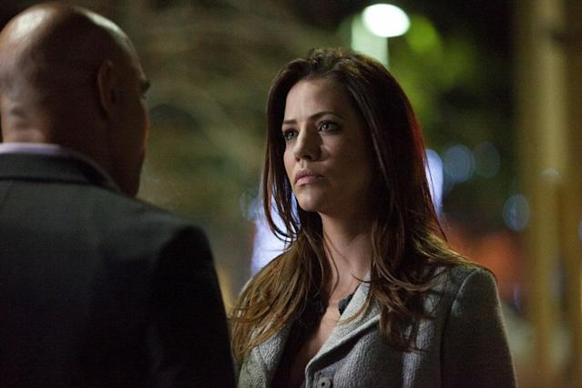 "Julie Gonzalo in the ""Dallas"" Season 2 episode, ""Battle Lines."""