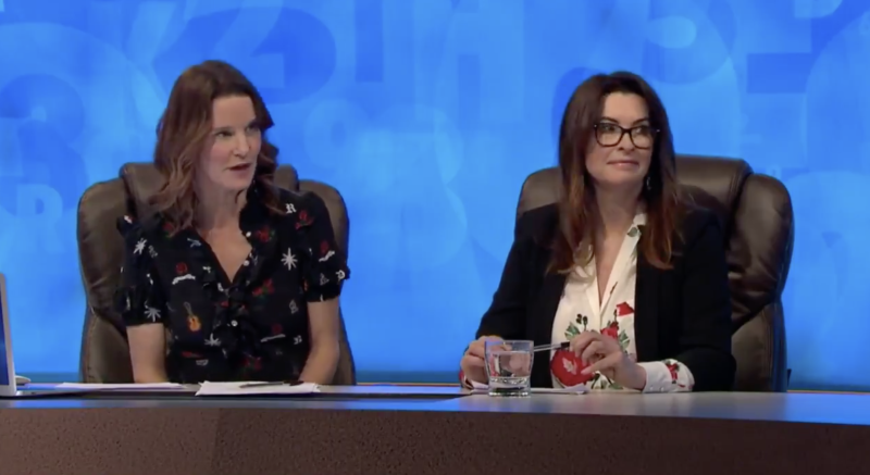 Susie Dent and guest Suzi Perry on Countdown (Channel 4)
