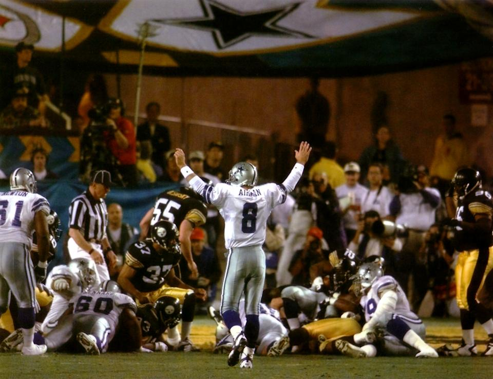 Twenty-five years ago, the Dallas Cowboys won their third Super Bowl in four years. They haven't sniffed another title since. (AP)