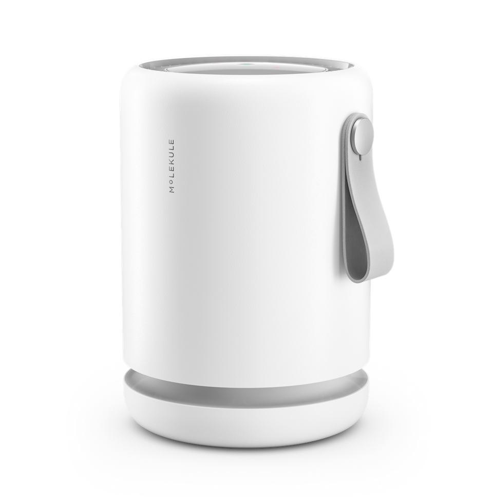 """<h2>Best Mini Air Purifier</h2><br>Molekule's stylish mini purifier features a vegan leather handle and destroys pollutants up to 250 sq. ft. Install the app on your phone to see when the filter needs replacing or remotely turn it on and off or adjust the speed. <br><br><br><strong>Molekule</strong> Air Mini, $, available at <a href=""""https://go.skimresources.com/?id=30283X879131&url=https%3A%2F%2Fmolekule.com%2Fair-purifier-mini"""" rel=""""nofollow noopener"""" target=""""_blank"""" data-ylk=""""slk:Molekule"""" class=""""link rapid-noclick-resp"""">Molekule</a>"""