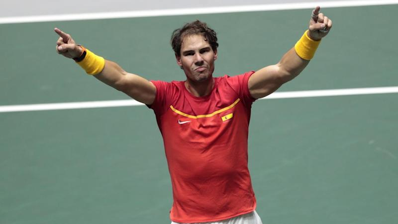 Spain's Rafael Nadal won his singles and doubles in the Davis Cup semi-final tie with Great Britain
