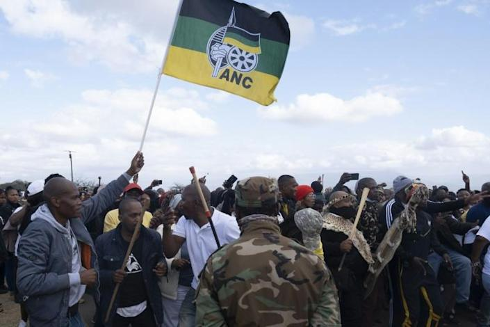 Hundreds of Zuma loyalists are camped outside their leader's home