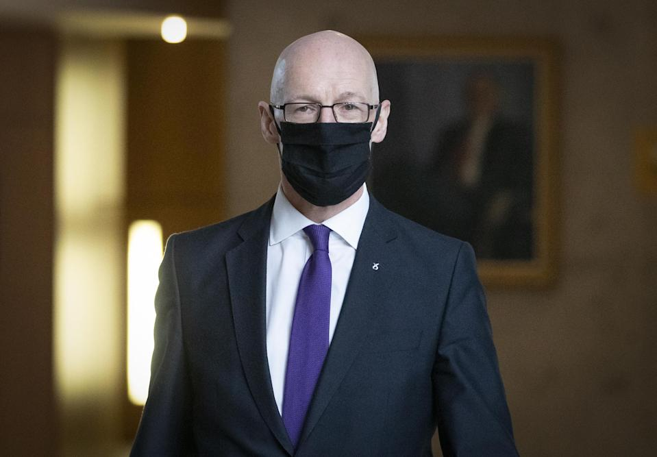 Deputy First Minister John Swinney was said to be 'mortified' by a Covid rule error while campaigning (Jane Barlow/PA)