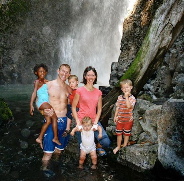 The Dennings on their first trip to Costa Rica in 2007