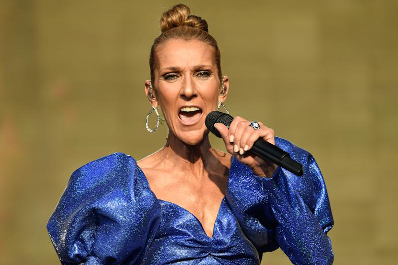 Celine Dion performs live at Barclaycard Presents British Summer Time Hyde Park at Hyde Park