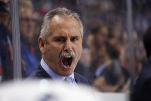 Willie Desjardins is feeling the heat in his second season behind the Canucks' bench. (Getty)