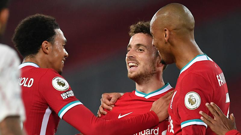 Liverpool 3-1 Arsenal: Jota wraps up win on league debut as champions maintain perfect start