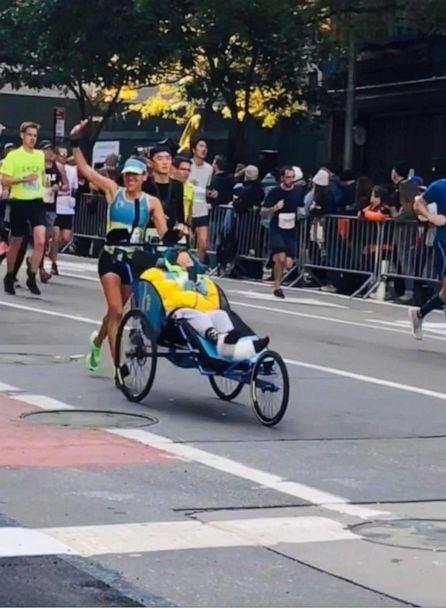 PHOTO: Caryn Lubetsky and Kerry Gruson crossed the finish line at the 2019 NYC marathon with a race time just under four hours. (Robin Diamond)