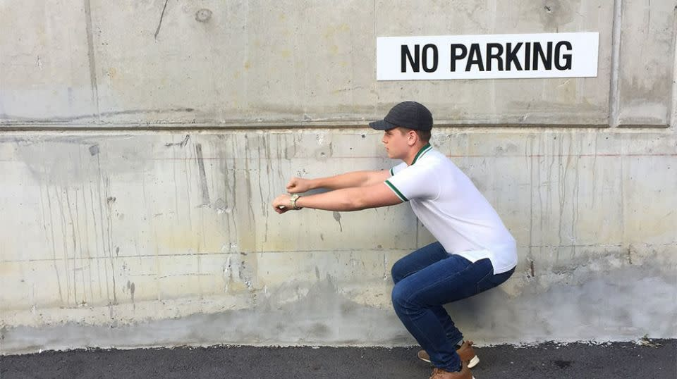 He may not have his learners permit but the young CEO said he has witnessed the frustration of not being able to find a parking space. Source: Supplied