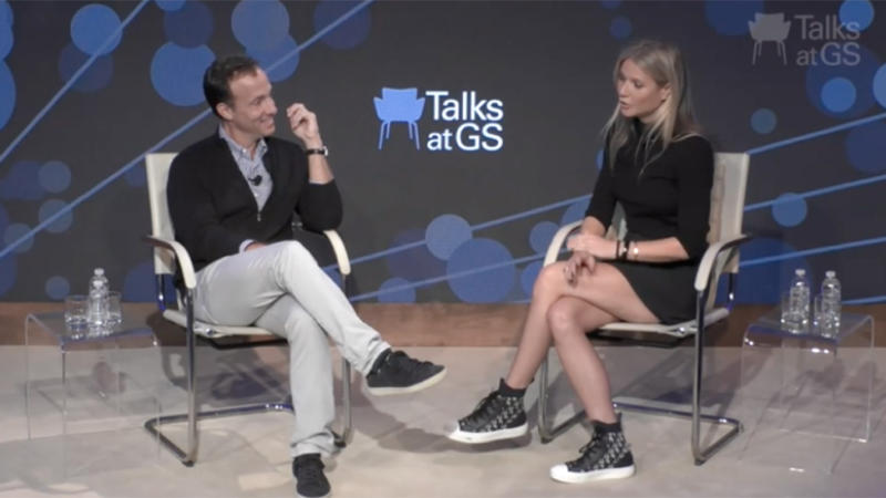 Gwyneth Paltrow appears on Talks at Goldman Sachs