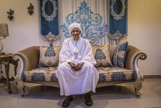 Hemedti chief of the RSF talks from his residences in Khartoum (Bel Trew)
