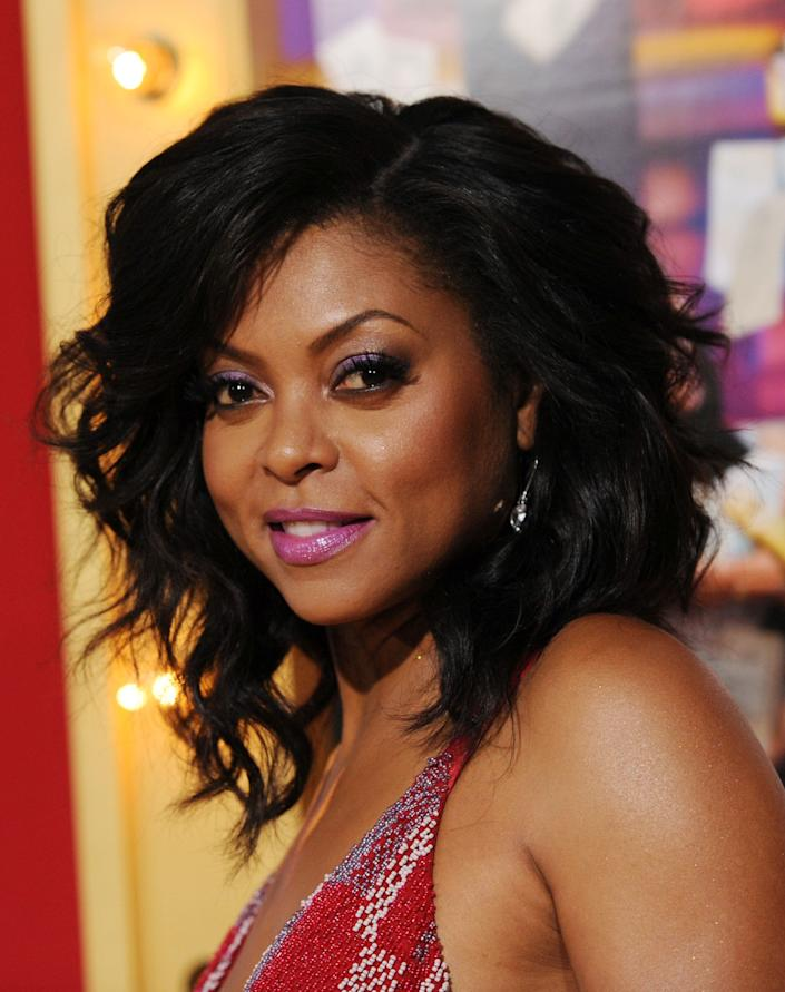 "Taraji P. Henson, a cast member in ""Think Like A Man Too,"" poses at the premiere of the film on Monday, June 9, 2014 in Los Angeles. (Photo by Chris Pizzello/Invision/AP)"