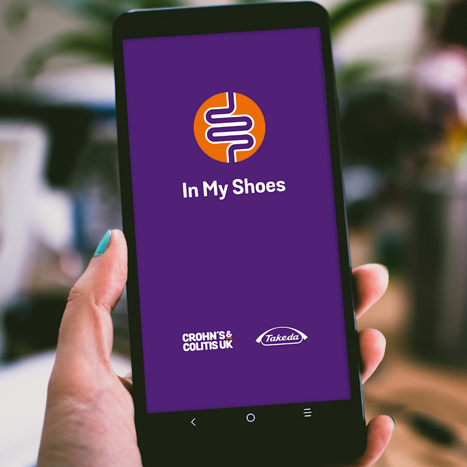In My Shoes app, developed by national charity Crohn's and Colitis UK and Takeda UK (UHS/PA)