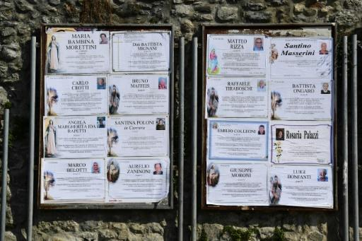 Death notices for the village are posted on the public board where newspapers normally hang