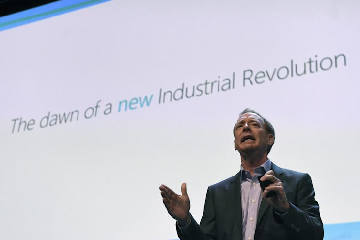Microsoft president and chief legal officer Brad Smith speaks at a Microsoft tech gathering in Dublin, Ireland October 3, 2016.