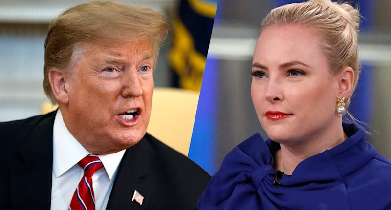 President Trump and Meghan McCain. (Photos: Evan Vucci/AP, Heidi Gutman/ABC via Getty Images)